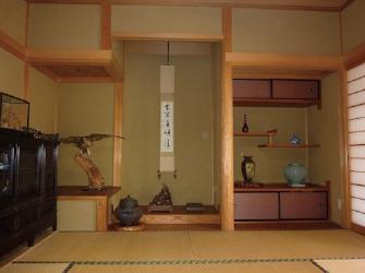 宿泊用の離れ屋(ホールに隣接した純日本家屋です)